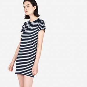 The cotton striped tee dress by Everlane
